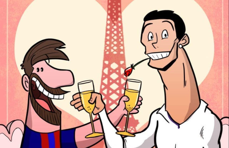 """Messi dhe Ronaldon në Paris, festojnë bashkë """"Shën Valentinin"""""""