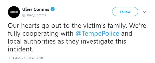 2018-03-20 13_31_51-Uber Comms on Twitter_ _Our hearts go out to the victim's family. We're fully co