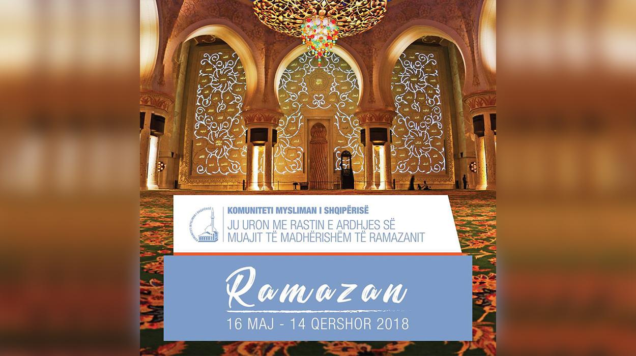 Sot nisi muaji i begatë të Ramazanit. Komuniteti Mysliman i Shqipërisë uron besimtarët