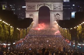 2018-07-11 13_29_55-France fans celebrate in Paris after side reaches the World Cup final - YouTube