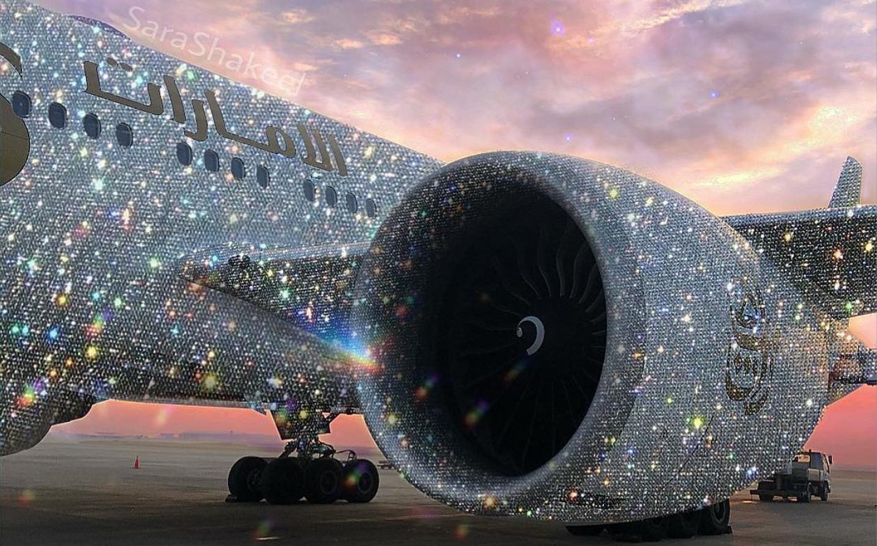 'Emirates Airline' veshin avionin me diamante për festa