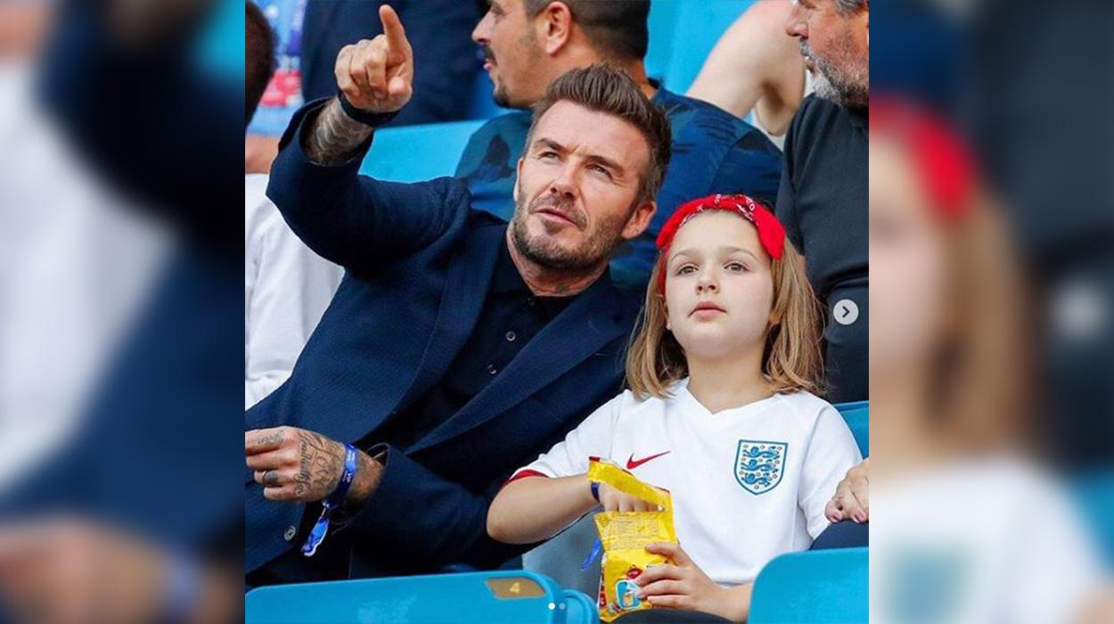 Puth të bijën në buzë publikisht, David Beckham kritikohet nga ndjekësit