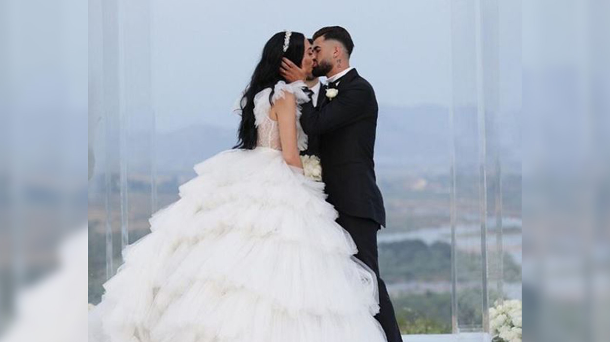 Futbollisti shqiptar i jep fund beqarisë, dalin fotot nga dasma madhështore