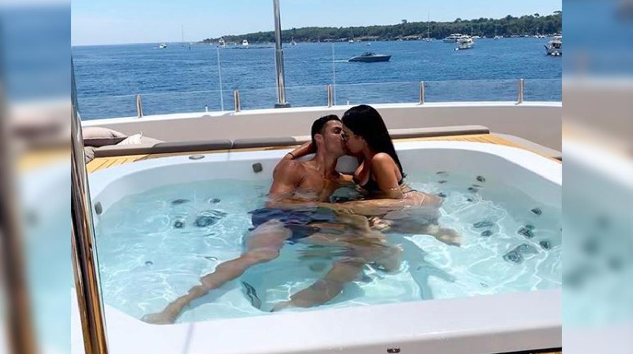 Georgina Rodriguez publikon foto nga shtrati duke puthur Kristiano Ronaldon