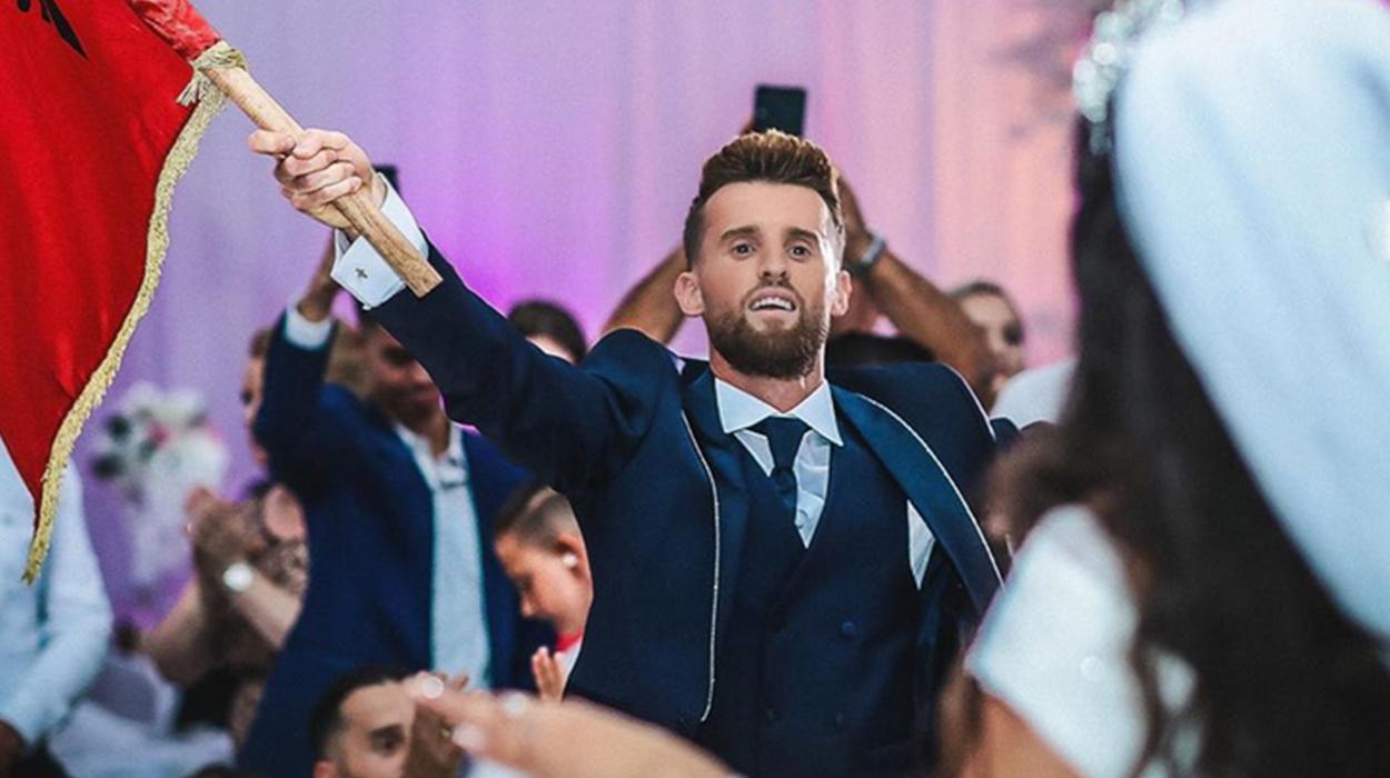 Futbollisti i kombëtares i jep fund beqarisë, Meda ndez atmosferën në dasëm