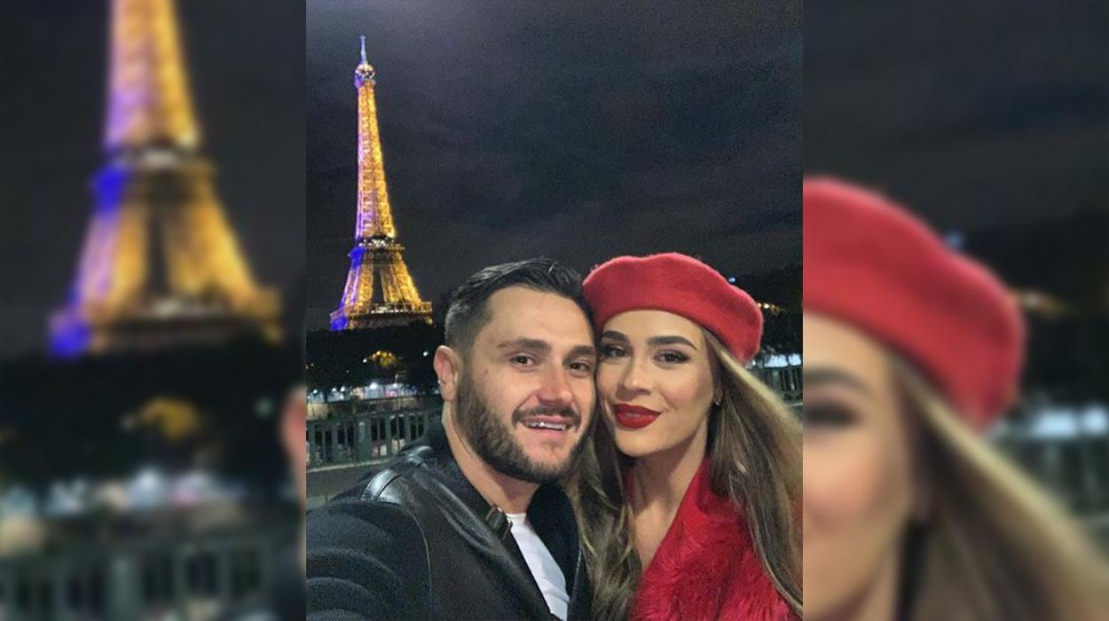 Pozojnë të mbështjellë më flamur, Besi dhe Xhensila postojnë foton më të bukur së bashku